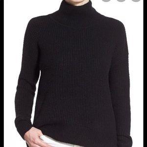 Madewell | Wafflestitch Turtleneck Sweater Black